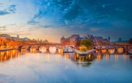 The River Seine Bridge Paris France