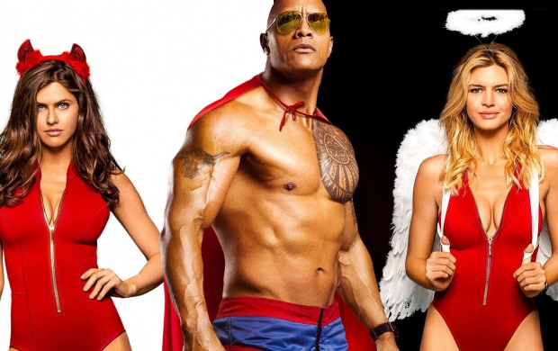 The Rock Alexandra And Kelly Rohrbach Baywatch (click to view)