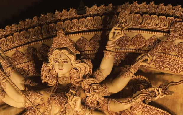 The Statue Of The Goddess Durga (click to view)
