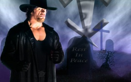 The Undertaker In Long Black Coat