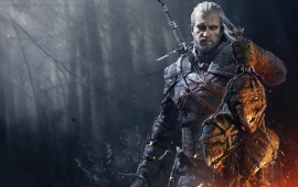 The Witcher 3 Wild Hunt Geralt With Trophies