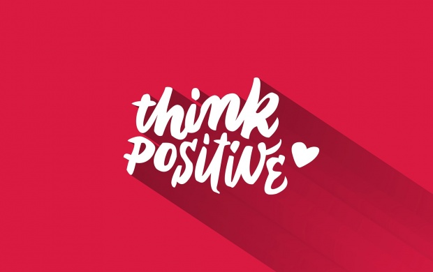Think Positive Pink Background (click to view)