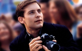 Tobey Maguire With Camera