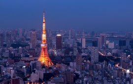 Tokyo Tower At Night Light