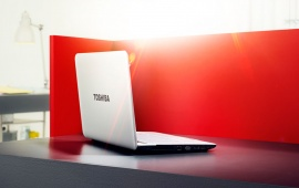 Toshiba White Laptop