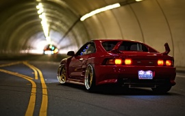 Toyota MR2 In A Road Tunnel