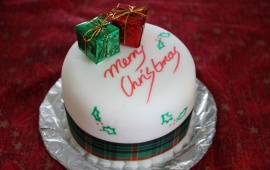 Traditional Christmas Cake And Gift
