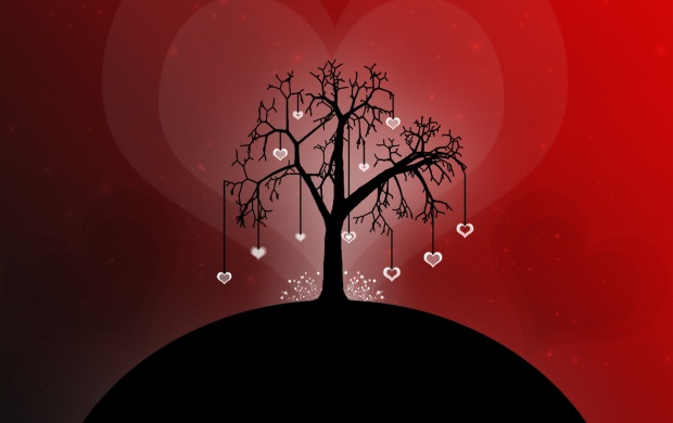 Tree Love Hang Hearts (click to view)