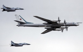 Tupolev Tu 95 And Mikoyan Mig 29