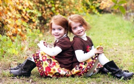 Twins Children Girl