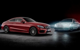 Two Car Mercedes-AMG C63 Coupe 2015
