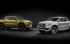 Two Mercedes-Benz X-Class 2016
