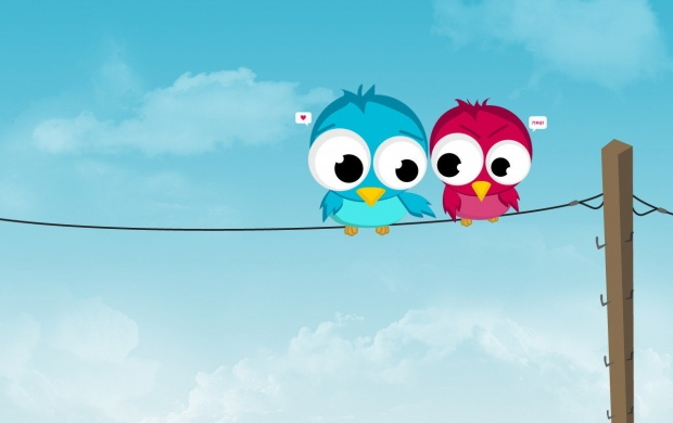 Two Twitting On Rope (click to view)