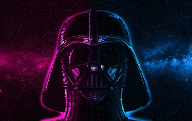 Typography Darth Vader (click to view)
