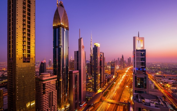 UAE Evening City Dubai (click to view)