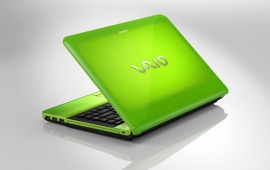 VAIO E Series Green Laptop