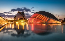 Valencia Evening Lights