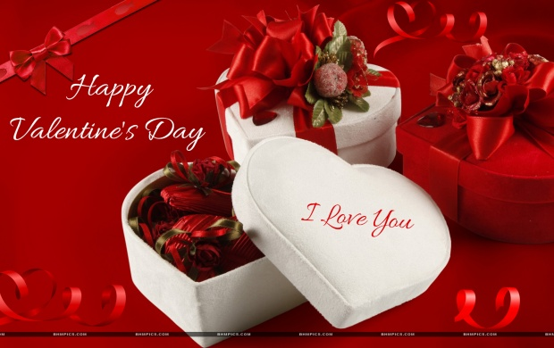 Valentine gift box in heart shape wallpapers valentine gift box in heart shape negle Gallery