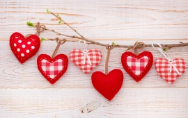 Valentines Day Branch Hearts
