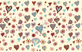Valentines Day Hearts Textures