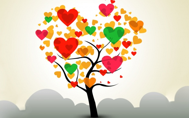 Valentines Day Love Tree Wallpapers