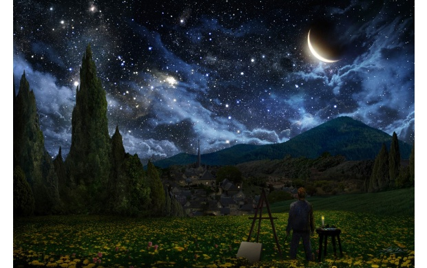 Van Gaugh Starry Night (click to view)