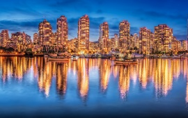 Vancouver British Columbia Night City
