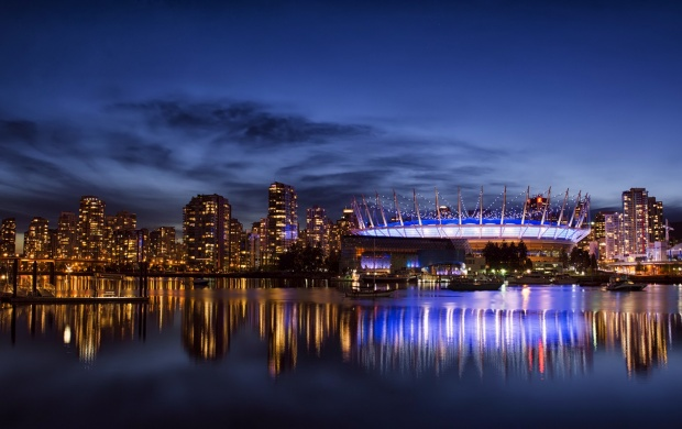 Vancouver City Night Blue Sky (click to view)
