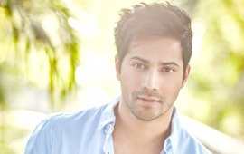 Varun Dhawan In Sky Blue Shirt