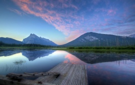 Vermillion Lake At Sunrise