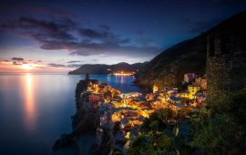 Vernazza Italy Night Evening Sunset
