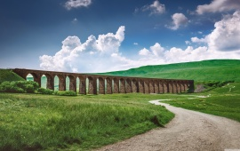 Viaduct Passing a Green Field