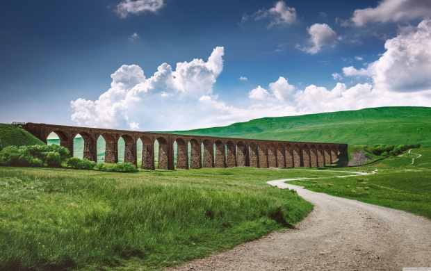 Viaduct Passing a Green Field (click to view)