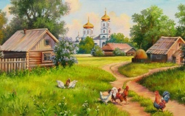 Village House Painting