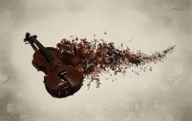 Violin And Notes Music