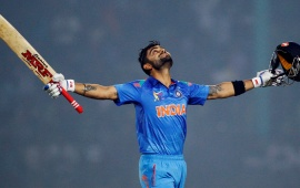 Virat Kohli Of Celebrates Victory
