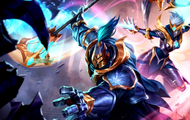 Warden Jax And Karma Skin Splash League Of Legends (click to view)