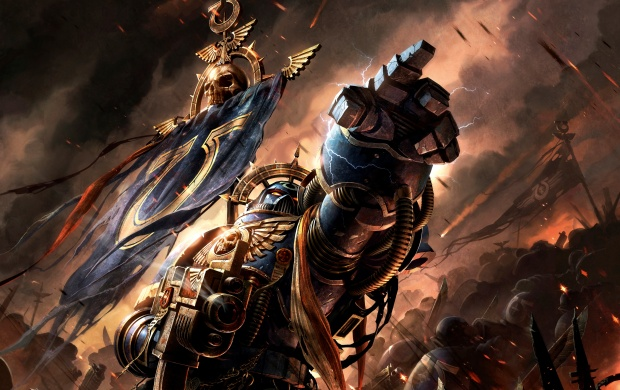 Warhammer 40,000 Dawn Of War III Space Marines Art (click to view)