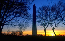 Washington D.C. Blue Sky Sunset Monument