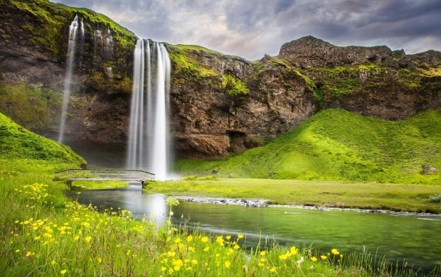 Waterfall River Summer Landscape (click to view)