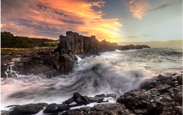 Waves On Rocky Shores (click to view)