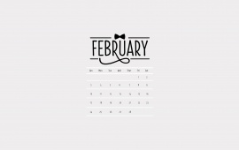 White Background Calendar February 2013