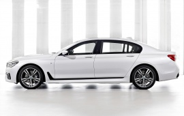 White BMW 7-Series 2016