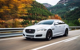 White Jaguar XJR 2015