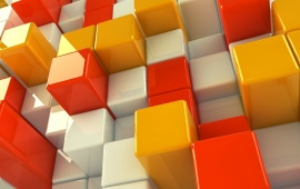 White Orange And Yellow Cubes