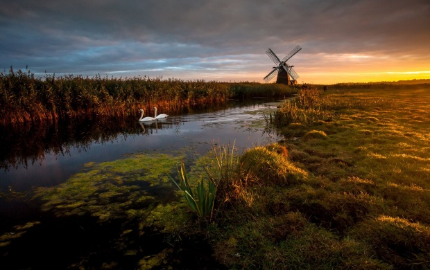 Windmill and Water Canals (click to view)