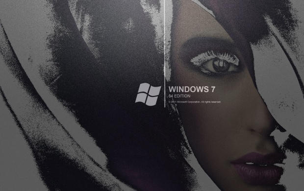 Windows 7 Black Face Wallpapers