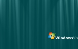 Windows Vista Green Background