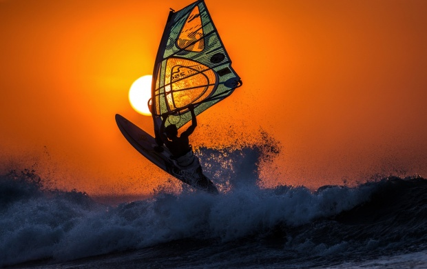 Windsurfing Sunset (click to view)