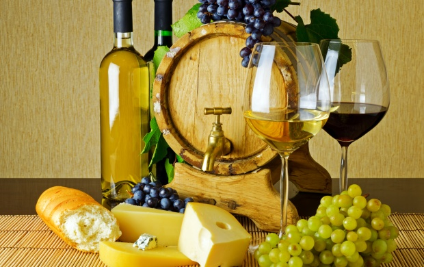 Wine And Cheese On The Table (click to view)